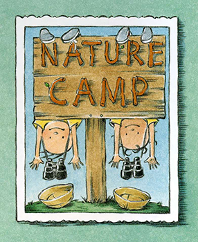 A Couple Of Boys Camp Sign